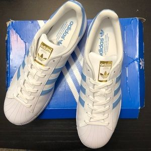 Adidas Superstar Foundation sneakers, white,blue